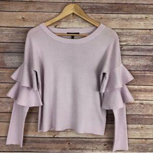Romeo & Juliet Couture Ruffle Sleeve Sweater